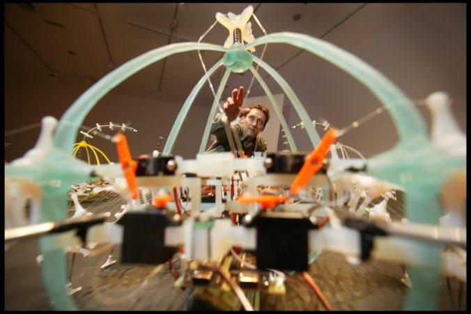 Ken Rinaldo in Sunderland premiere of the Autotelematic Spider Bots