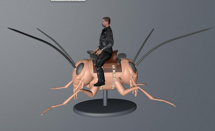 Mini Giclee print for Trans-Species by Ken Rinaldo in the Museum for Insects 2014 by Amy Youngs