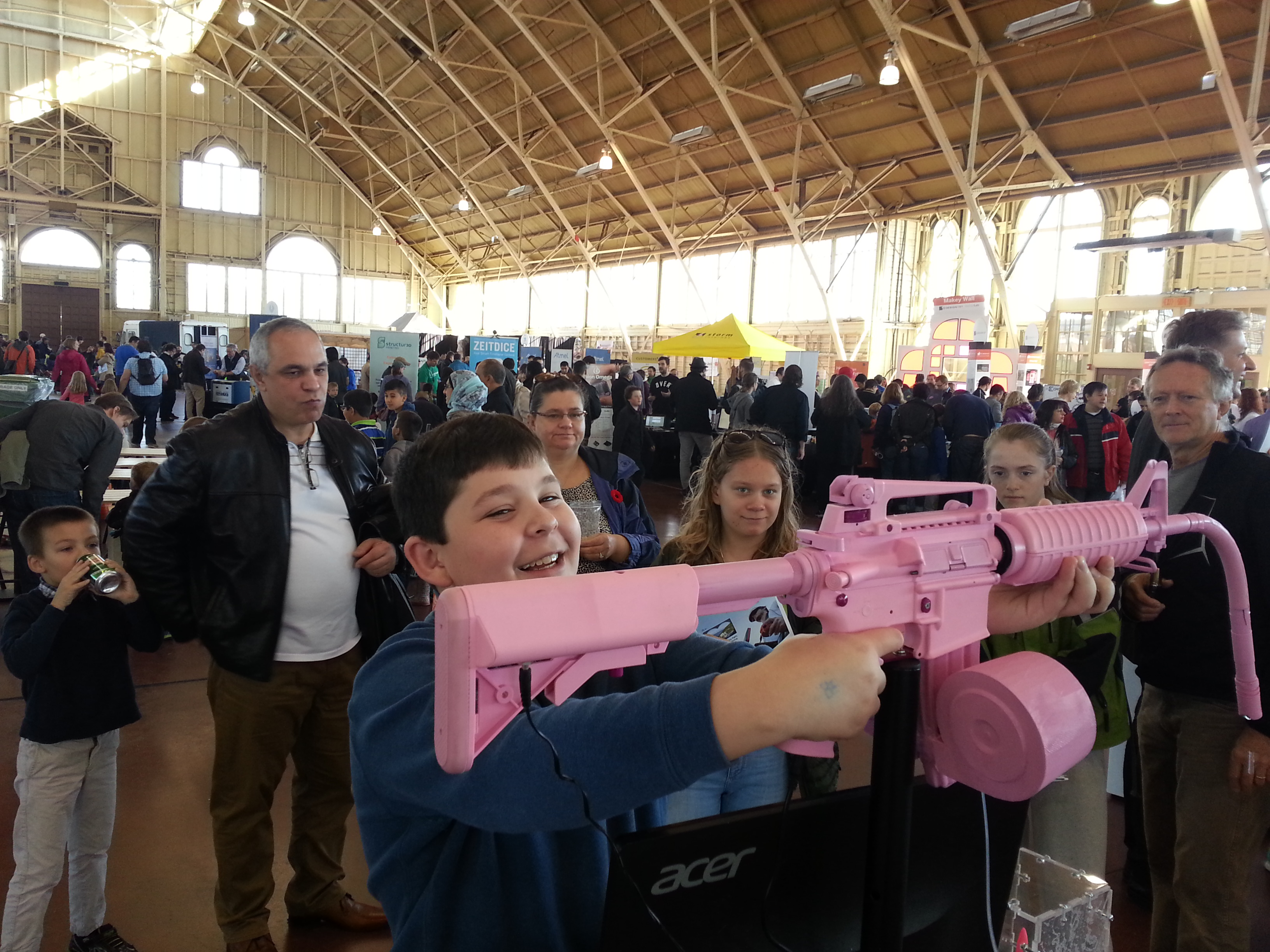 The Woman's Tears Machine Gun bullet holding Woman's tears pink gun