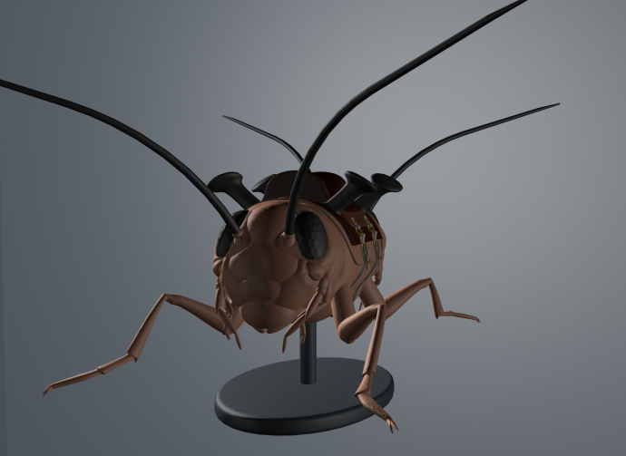 Amy Riding the Golden Cricket by Ken Rinaldo, 3D model
