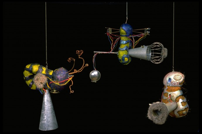 Cybersqueak by Ken Rinaldo Image de Future curated by Ginette Major and Herve Fisher. Photo Ken Rinaldo