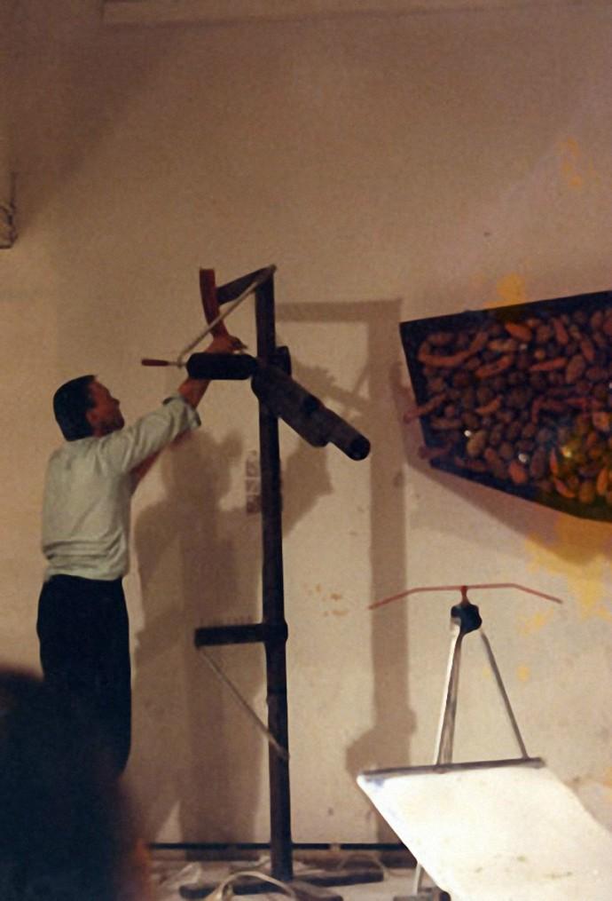 I Yam What I Yam by Ken Rinaldo at premiere ATA Gallery San Francisco, California 1988